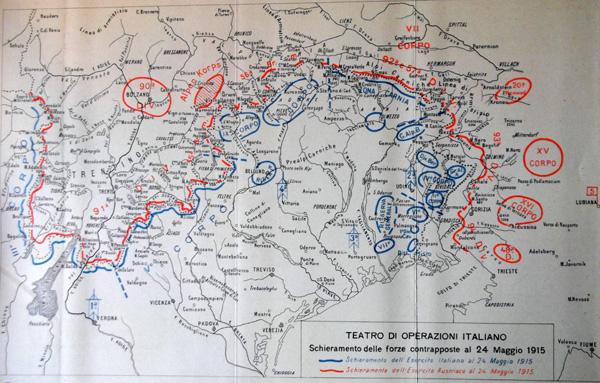 Cartina D Italia 1915.La Grande Guerra 1915